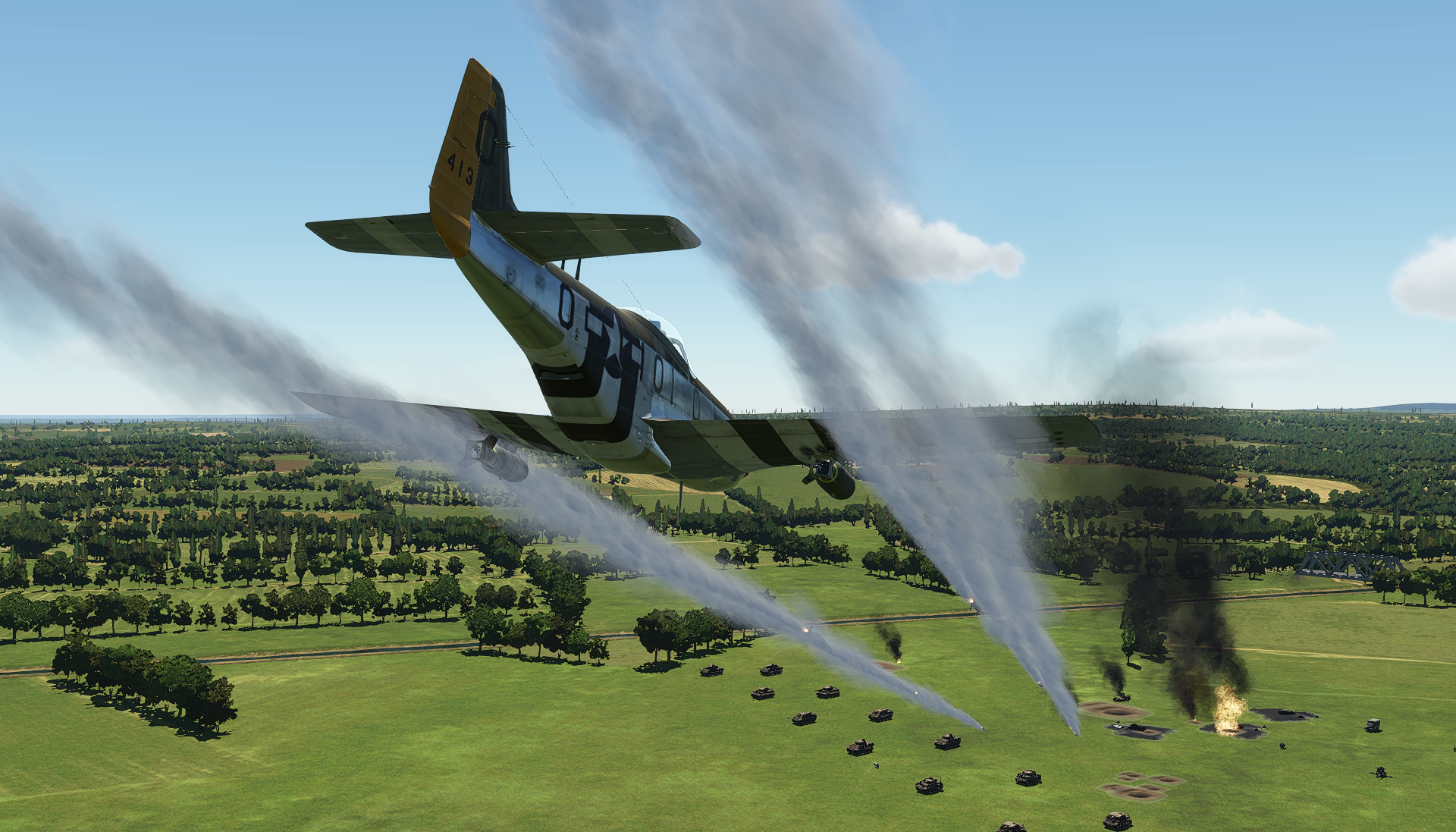 Entrainement attaque au sol sur P51 Obus2