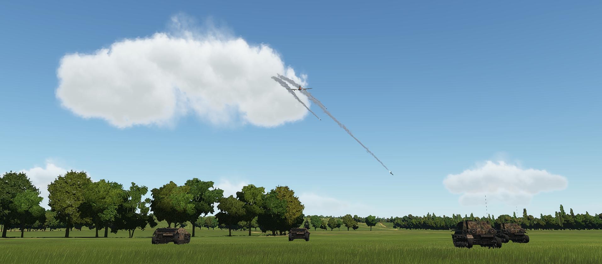 Entrainement attaque au sol sur P51 Obus4